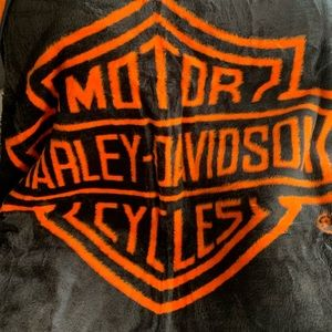 Brand New Harley Davidson Blanket Orange & Black